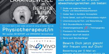 Physiotherapeut/in gesucht